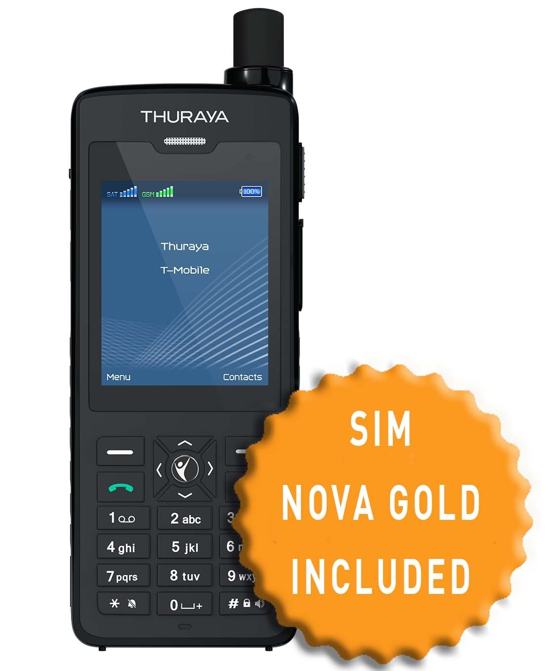 Thuraya XT-PRO DUAL and SIM with 130 Units
