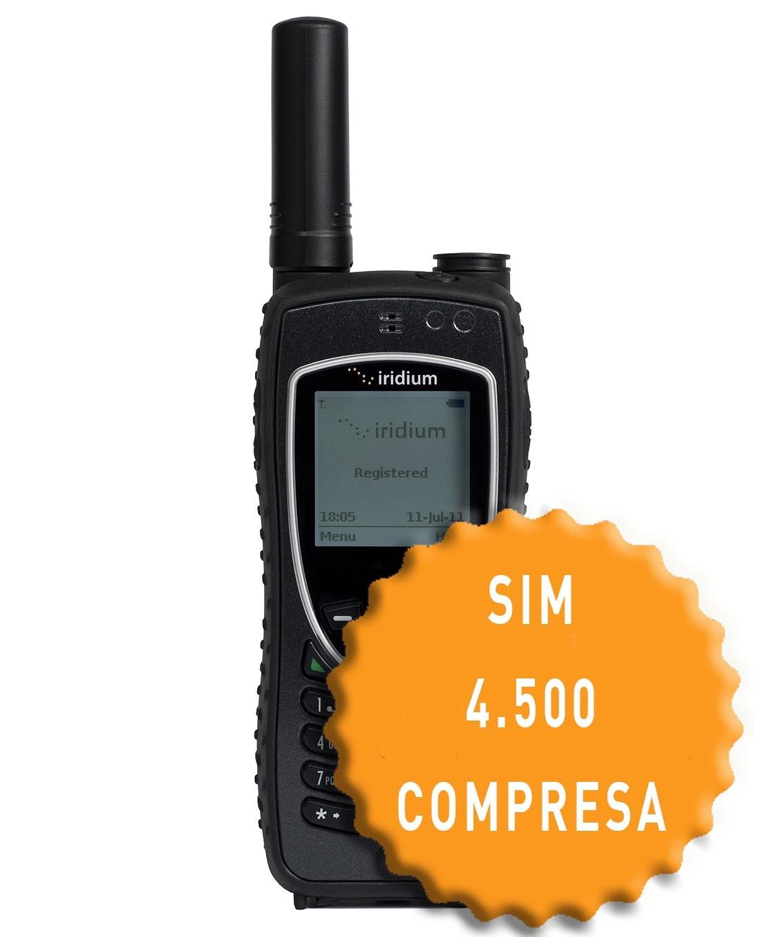 Iridium 9575 Extreme e SIM con 4.500 Unità