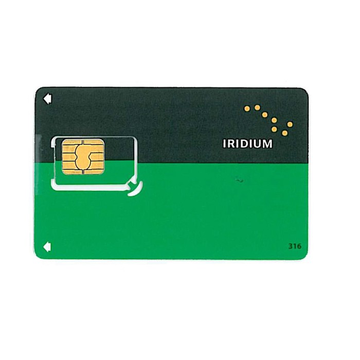 SIM Card Iridium 6M - 45.000 units/credits