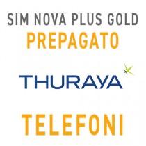 SIM CARD THURAYA NOVA PLUS GOLD CON 110 UNITÀ - PREPAGATO