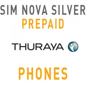 Sim Card Thuraya Nova SILVER WITH 20 Units - Prepaid
