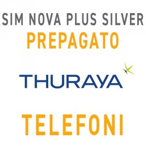 SIM CARD THURAYA NOVA PLUS SILVER CON 20 UNITÀ - PREPAGATO